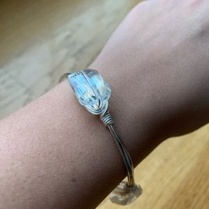 New Bourbon and Bowties Crystal clear Bangle